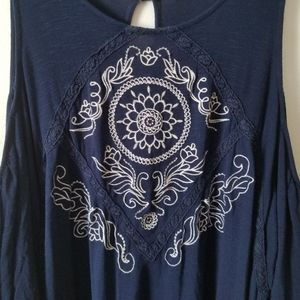 Eyeshadow Cold Shoulder Top Plus Size 2X